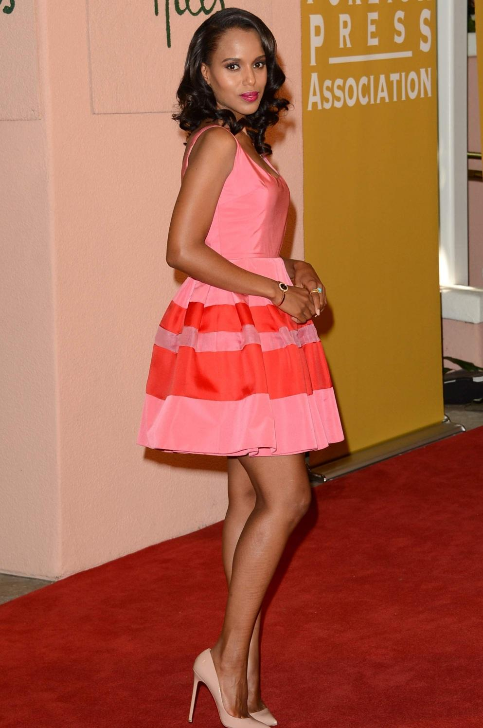 Kerry Washington Pink Dress Hfpas Installation Luncheon Kerry Washington Pink Dress Hfpas Installation Luncheon Hot